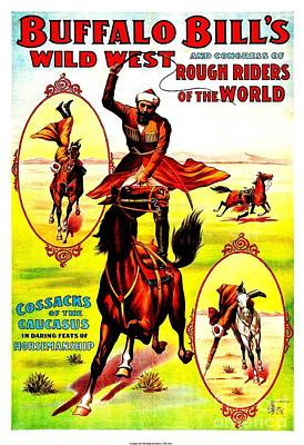Buffalo Bills Wild West Rough Riders Of The World 1898 Poster