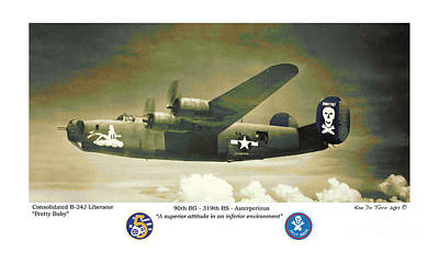 Poster featuring the photograph B24-pretty Baby by Kenneth De Tore