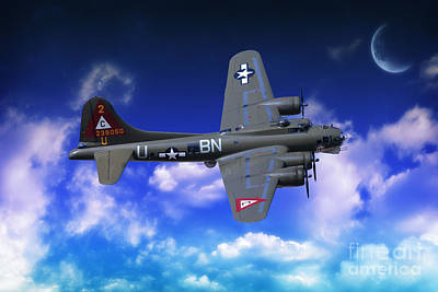 B17 Flying Fortress Poster by Nichola Denny