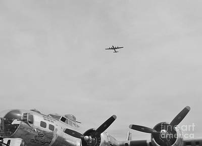 B29 Over A B17 Poster by Matt Krieger