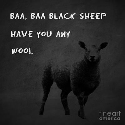 Baa Baa Black Sheep Poster by Gillian Singleton