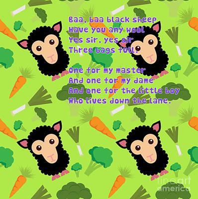 Baa, Baa Black Sheep Poster by Humorous Quotes