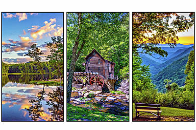 Babcock State Park Triptych 2 Poster by Steve Harrington