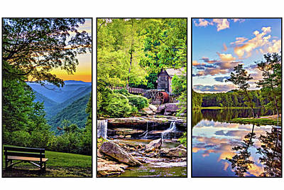 Babcock State Park Triptych Poster