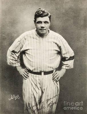 Babe Ruth Portrait Poster by Jon Neidert