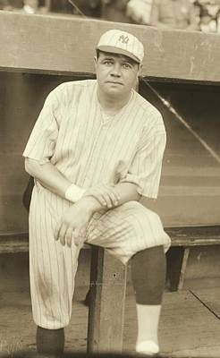 Babe Ruth Posing Poster by Padre Art