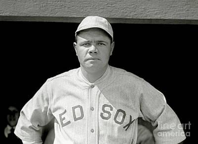 Babe Ruth Red Sox Poster by Jon Neidert