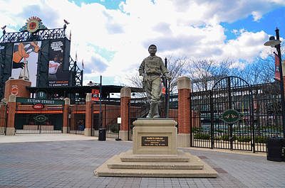 Poster featuring the photograph Babes Dream - Camden Yards Baltimore by Bill Cannon