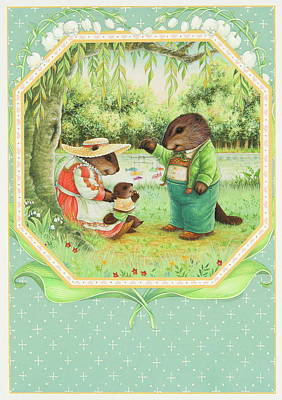 Baby Beaver Poster by Lynn Bywaters