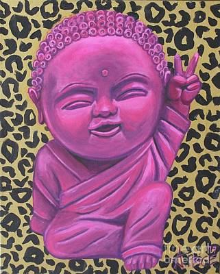 Poster featuring the painting Baby Buddha 2 by Ashley Price