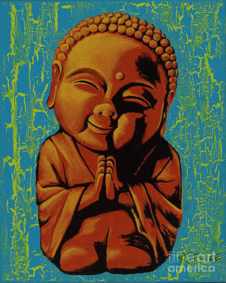 Poster featuring the painting Baby Buddha by Ashley Price