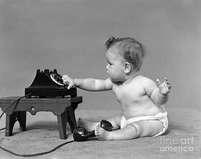 Baby Dialing Telephone, C.1940s Poster