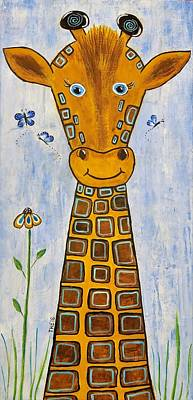 Baby Giraffe Poster by Suzanne Theis