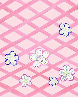 Baby Pink Flower Garden Poster by Irina Sztukowski