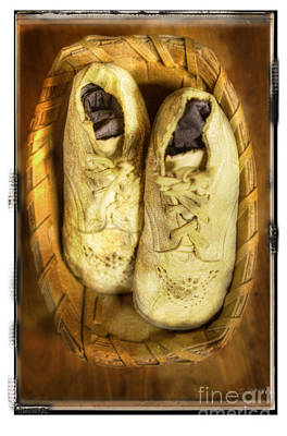 Poster featuring the photograph Baby White Shoes by Craig J Satterlee