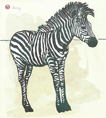 Baby Zebra - Stylised Pop Art Poster Poster