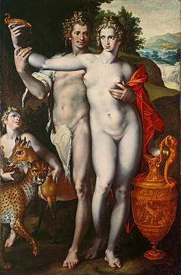 Bacchus And Venus Poster by Bartholomaeus Spranger