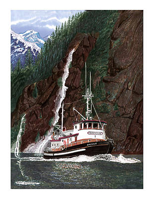 Baccus Yacht Tugboat Poster by Jack Pumphrey