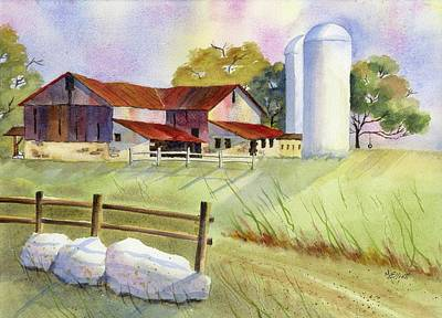 Back A Country Lane Poster by Marsha Elliott