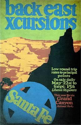 Back East Xcursions - Santa Fe, Mexico - Retro Travel Poster - Vintage Poster Poster