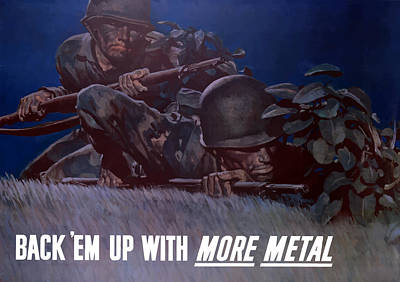 Back 'em Up -- Ww2 Poster by War Is Hell Store