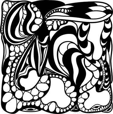 Back In Black And White 12 Modern Art By Omashte Poster