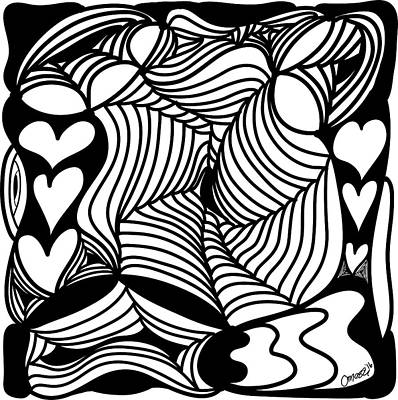 Back In Black And White 13 Modern Art By Omashte Poster