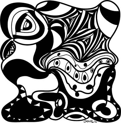 Back In Black And White 2 Modern Art By Omashte Poster