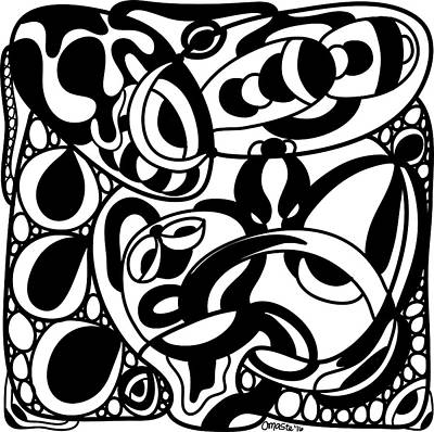 Back In Black And White 8 Modern Art By Omashte Poster