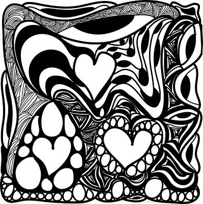 Back In Black And White 9 Modern Art By Omashte Poster