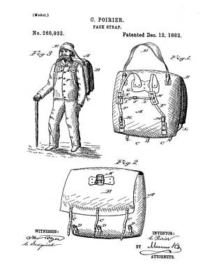 Back Pack Patent 1882 Poster by Bill Cannon