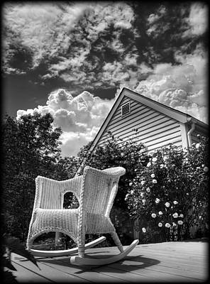 Back Porch Rocking Chair Poster by Tammy Wetzel