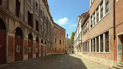 Poster featuring the photograph Back Street In Venice by Anne Kotan