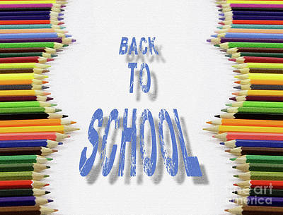 Back To School Color Pencils Poster