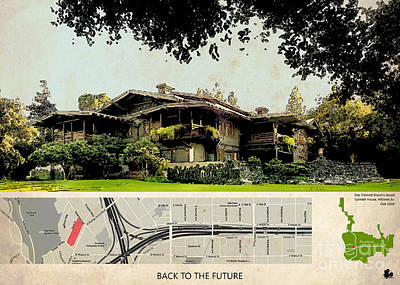 Back To The Future Doc Brown House Poster by Pablo Franchi