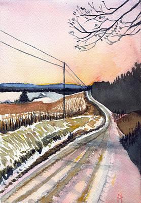 Backlit Roads Poster