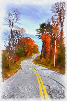 Backroads Vermont Poster by Edward Fielding