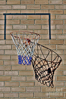 Poster featuring the photograph Backyard Basketball by Stephen Mitchell