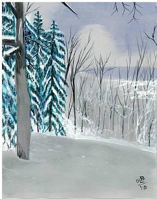 Backyard Snow Poster