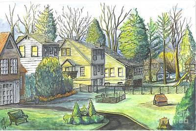 Hometown Backyard View Poster by Carol Wisniewski