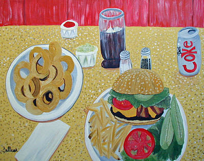 Bacon Cheeseburger Deluxe Poster by Norma Tolliver