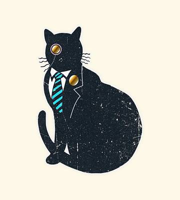 Bad Black Cat Poster by Illustratorial Pulse
