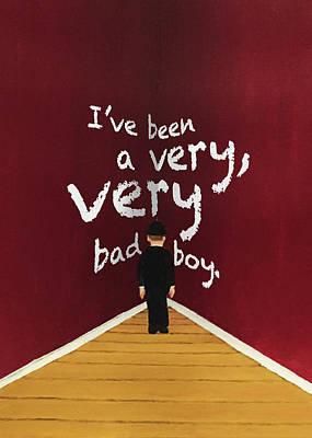Bad Boy Greeting Card Poster by Thomas Blood