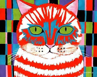 Bad Cattitude - Contemporary Cat Art Poster
