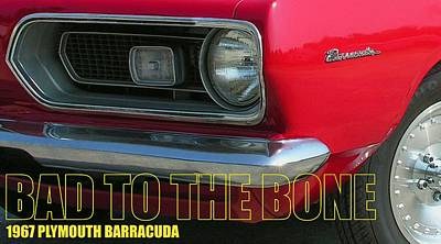 Bad To The Bone Poster by Richard Rizzo