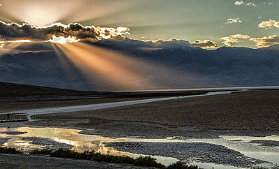 Poster featuring the photograph Bad Water Basin Death Valley National Park by Michael Rogers