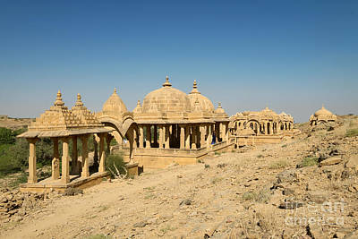 Poster featuring the photograph Bada Bagh Of Jaisalmer by Yew Kwang