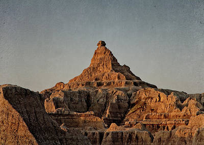Badlands At Sunrise Poster
