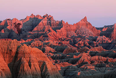 Poster featuring the photograph Badlands Dreaming by Nicholas Blackwell