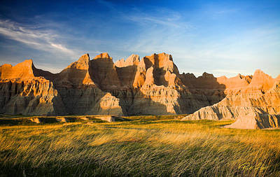 Poster featuring the photograph Badlands In Late Afternoon by Rikk Flohr
